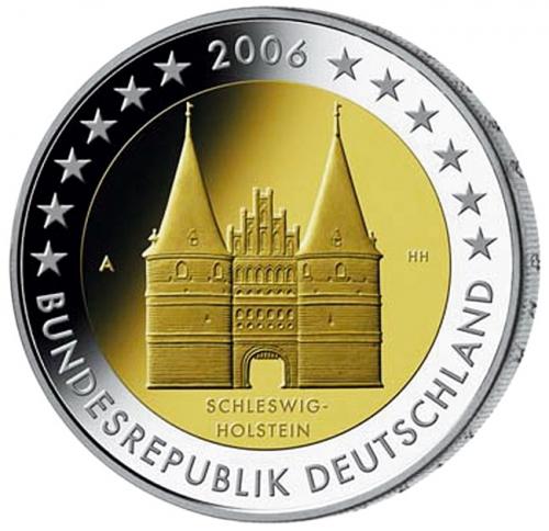 Первая монета серии «Федеральные земли Германии» — Шлезвиг-Гольштейн