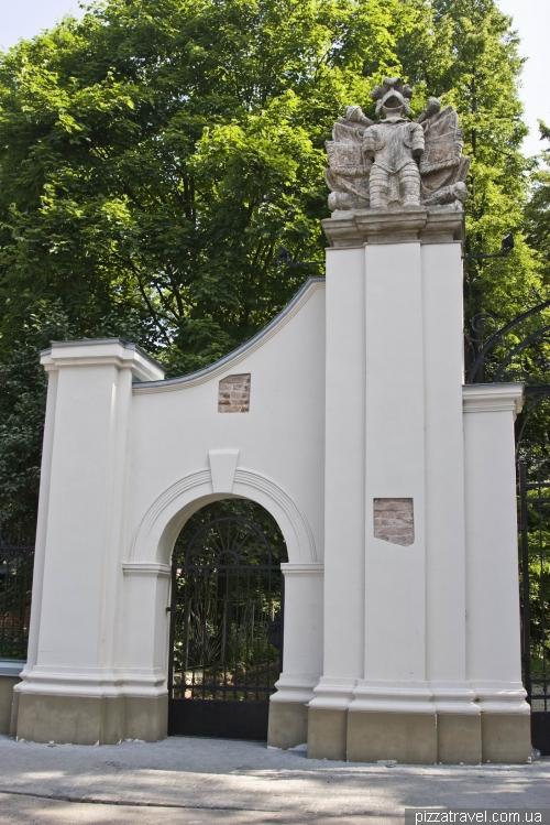 Potocki Palace gate in Ivano-Frankivsk