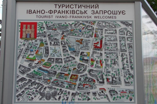 Tourist map of Ivano-Frankivsk