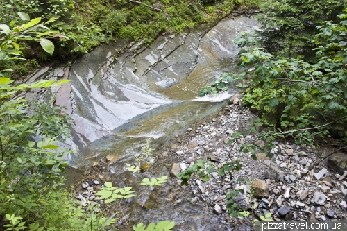 Дорога к Манявскому водопаду