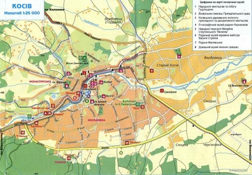 Карта музеїв Косова