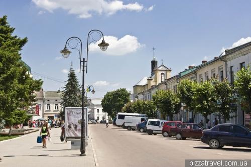 Houses on the Taras Shevchenko square in Kolomyia