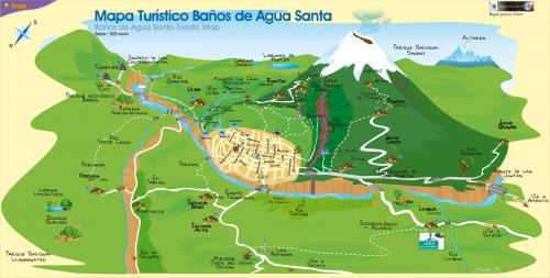 Туристична карта Баньоса