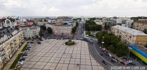 Panorama of Sofia Square from the Bell Tower of St. Sophia Cathedral