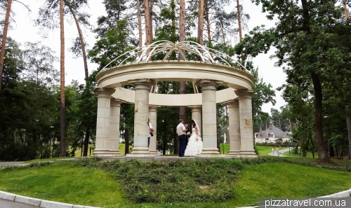 Rotunda in the city park in Bucha