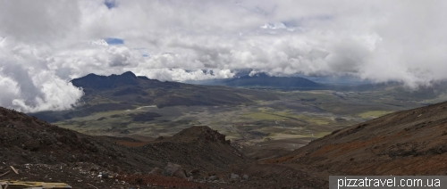 View of the valley of volcanoes