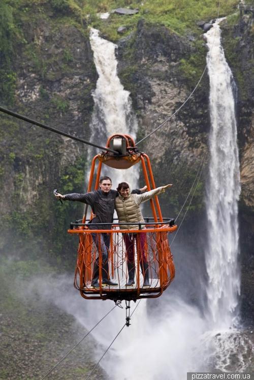 Cascada El Manto de la Novia waterfall