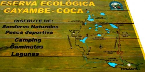Карта национального парка Cayambe Coca