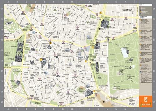 Карта Мадрида