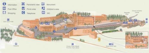 Map of Montserrat monastery