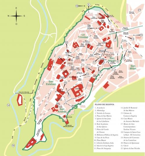 Map of Segovia