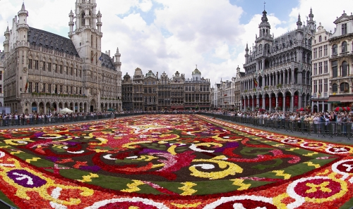 Floral carpet on the Grand Place in Brussels