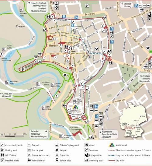 Map of Rothenburg ob der Tauber