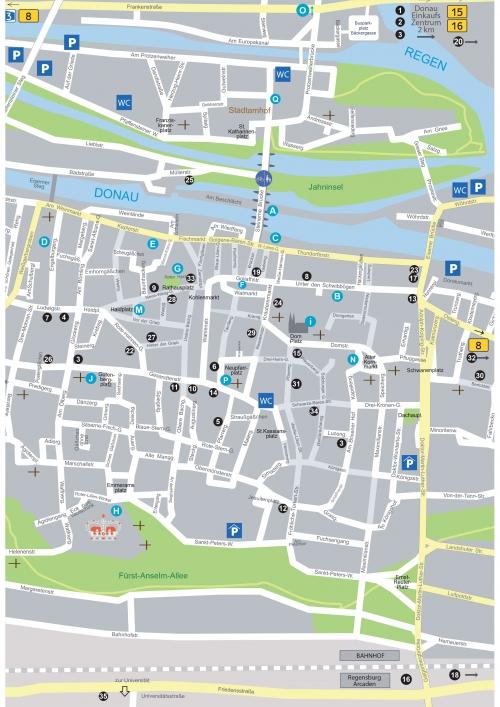 Карта Регенсбурга
