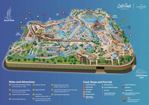 Wild Wadi Water Park Map