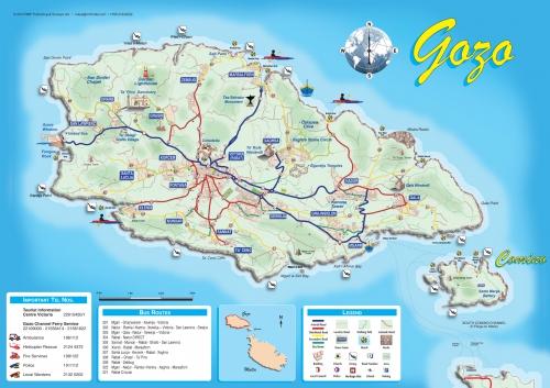 Карта острова Гозо