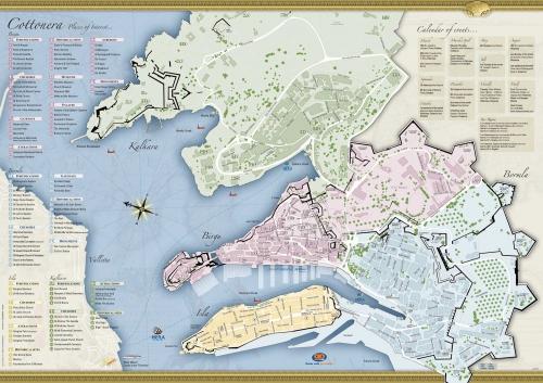 Senglea, map
