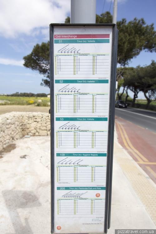 Автобусная остановка на Мальте