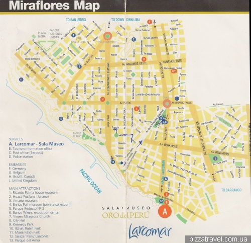 Map of Miraflores