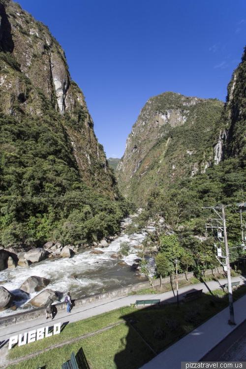 The village of Machu Picchu