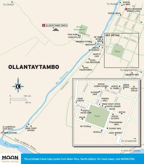 Ollantaytambo map