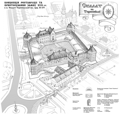 Reconstruction of the castle in Skalat