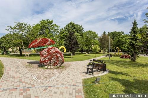 Park of walking sticks in Sigulda