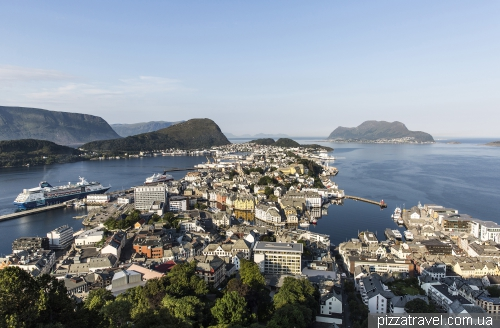 View of Alesund from Aksla
