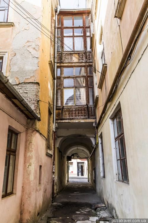 Old patio in Chernivtsi