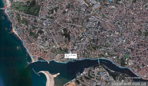 Карта велосипедной дорожки Порто