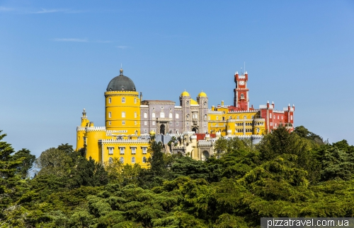 View of the Pena Palace from the statue of Ferdinand