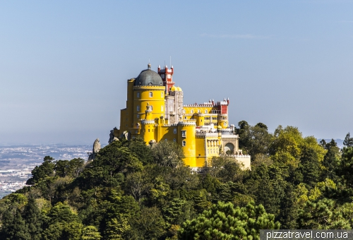 View of the Pena Palace from Cruz Alta