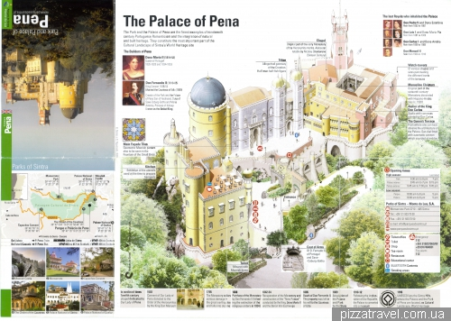 Map of Pena Palace