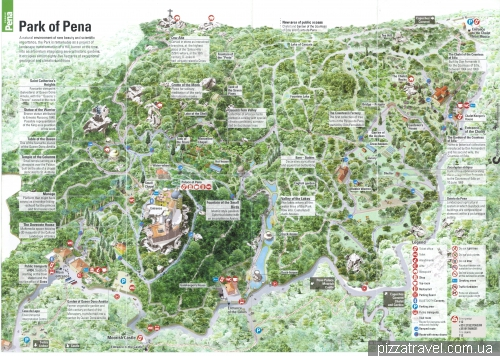 Map of Pena Palace park