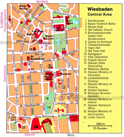 Мапа Вісбадена