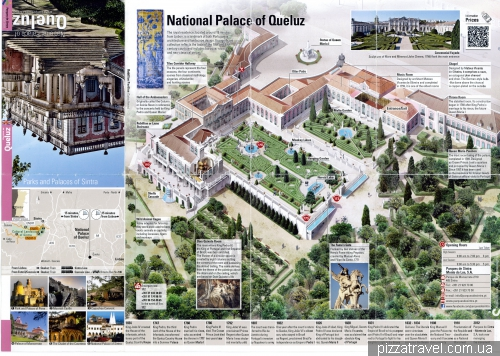 Map of Queluz Palace