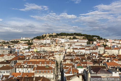 Lisbon, view from the observation deck of Elevador de Santa Justa