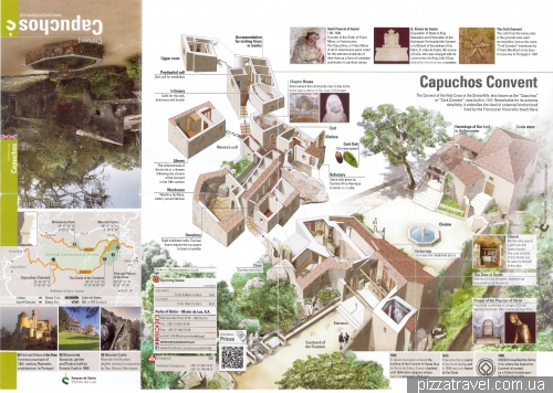 Map of Capuchin Monastery in Sintra