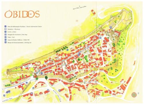 Map of Obidos