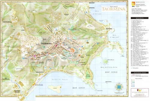 Карта Таорміна