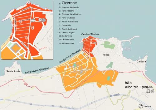 Map of Cefalu