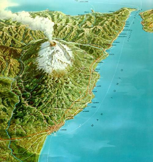 Вулкан Етна, загальний вигляд