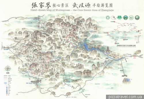 Wulingyuan map (Avatar mountains)