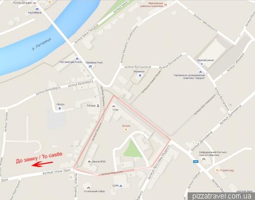 Туристическая карта Мукачево