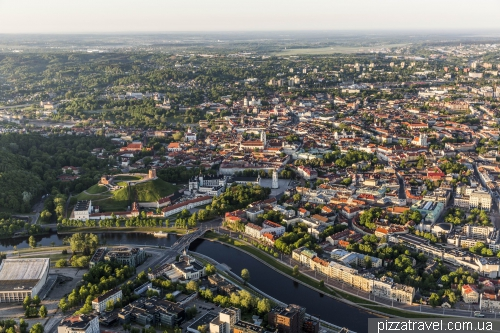 Ballooning above Vilnius