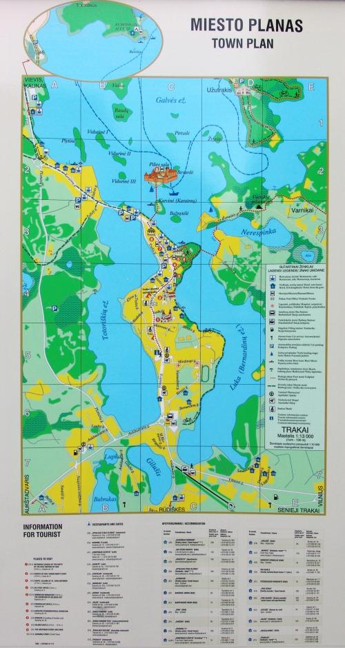 Map of Trakai