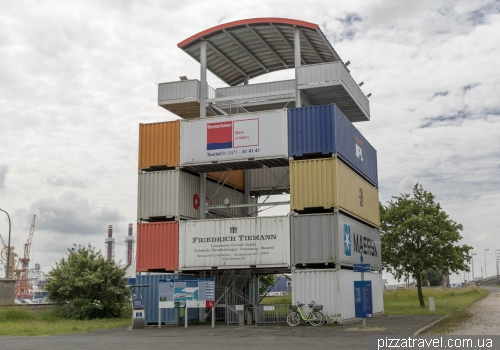 Container-Aussichtsturm observation deck