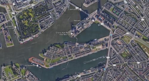 Районы Роттердама Katendrecht и Kop van Zuid