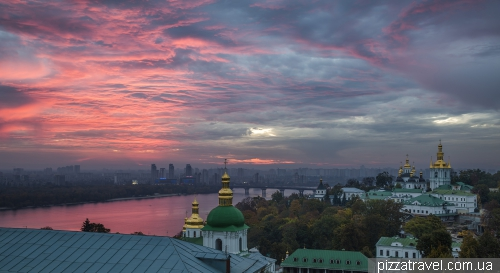View of Kyiv from the territory of the Lavra