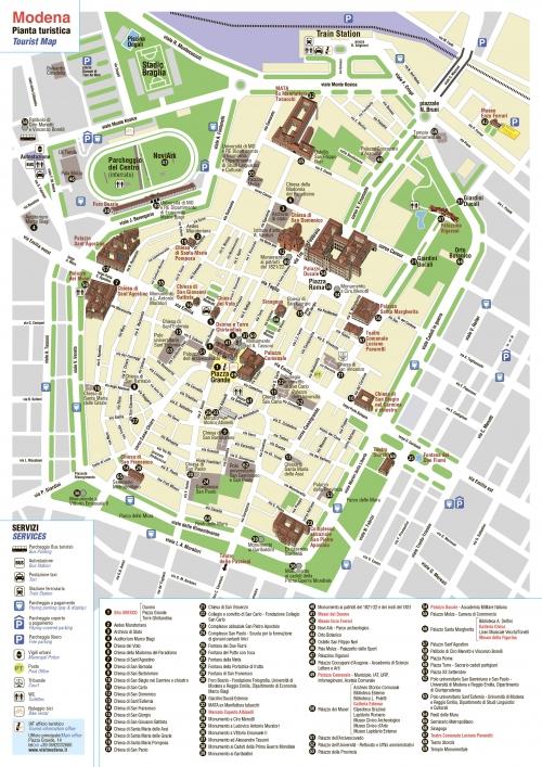 Карта Модени